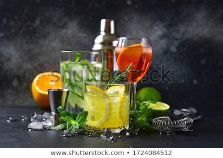 Naranja martini cóctel beber alcohol Foto stock © travelphotography