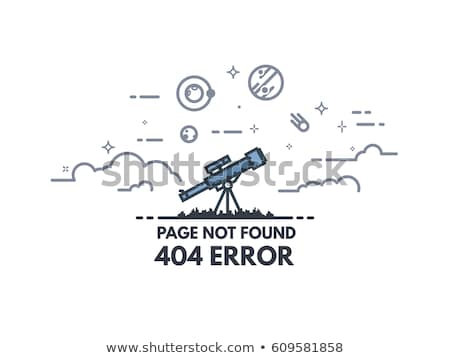 Not Found Error. Information Concept. Stock photo © tashatuvango