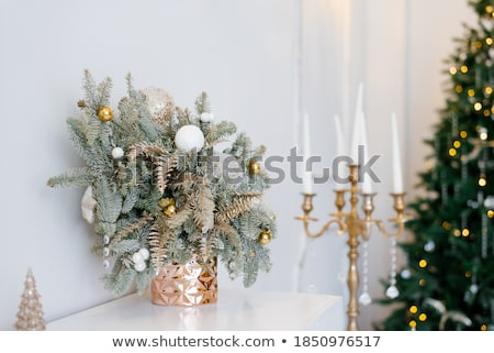 Christmas candlestick Stock photo © MKucova