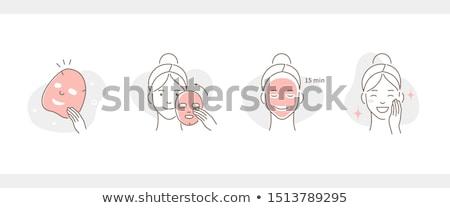 красивая · девушка · женщину · маске · ванную · природы · косметики - Сток-фото © lvjonok