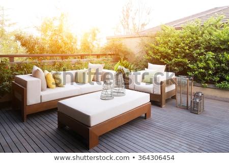 Modern garden furniture Stock photo © Kirill_M