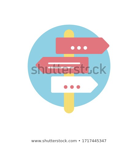 assistance, support, guidance in arrows, flat design Stock photo © marinini