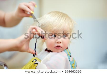 Baby · Friseur · Hände · Haar · Frau · jungen - stock foto © novic