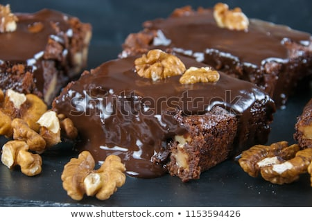 Stock photo: brownies and nuts