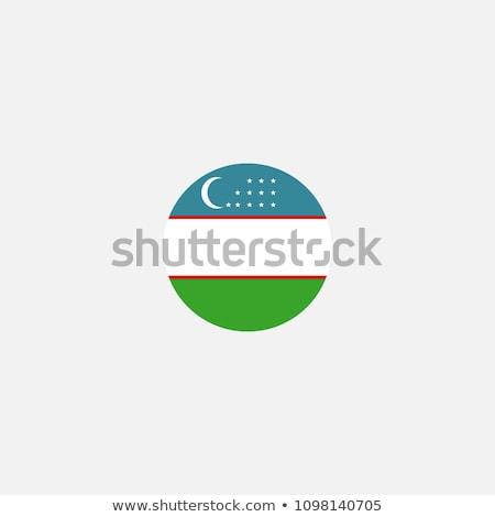 Üzbegisztán zászló ikon izolált fehér internet Stock fotó © zeffss