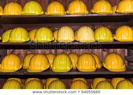 Giallo caschi visitatori gemma mine lavoro Foto d'archivio © meinzahn