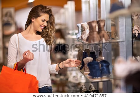 woman with shoes in shopping mall Stock photo © ssuaphoto