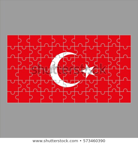 Turco bandeira quebra-cabeça isolado branco abstrato Foto stock © Istanbul2009