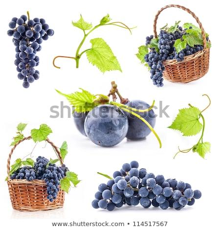 белый · виноград · корзины · вино · природы - Сток-фото © manera
