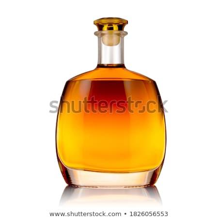 Conhaque garrafa isolado branco festa coquetel Foto stock © Givaga