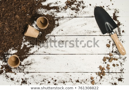 Border of gardening tools and equipment Stock photo © ozgur