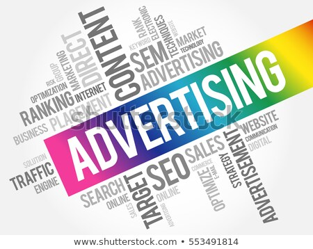 Advertising word cloud Stock photo © tang90246
