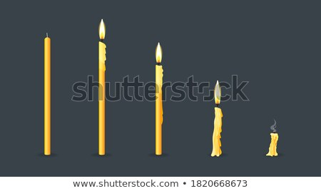 New and burning wax candle Stock photo © orensila