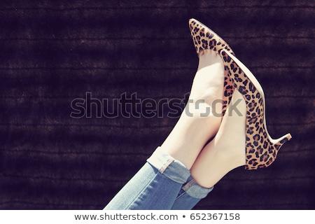 Concept image high heel shoes woman legs filtered Stock photo © roboriginal