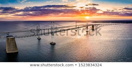 Most stylizowany wektora handlu lata łodzi Zdjęcia stock © tracer