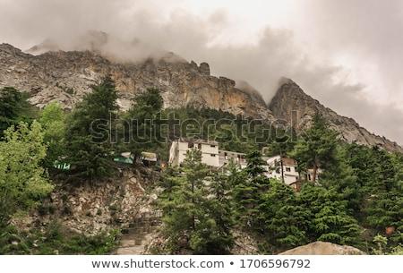 Nehir bölge gökyüzü su dağ din Stok fotoğraf © imagedb