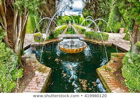 alhambra · Spagna · mondo · giardino · blu · castello - foto d'archivio © fisfra