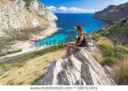 -young tourist girl in formentera Stock photo © lunamarina