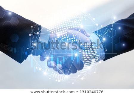 együttműködés · kettő · boldog · férfiak · szemben · egyéb - stock fotó © RAStudio