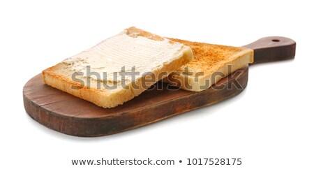 白パン バター スライス 新鮮な トースト サークル ストックフォト © Digifoodstock