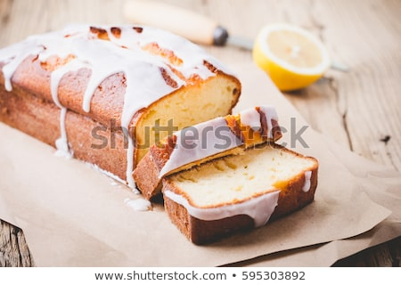 фунт торт кусок кремом продовольствие пластина Сток-фото © Digifoodstock