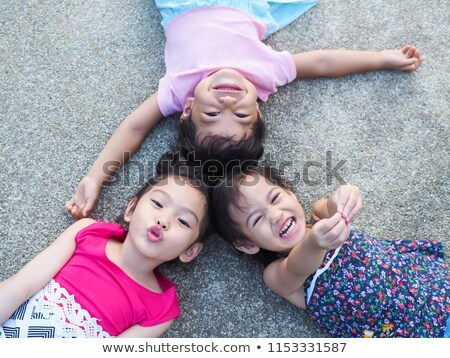 Three children lying Stock photo © Paha_L