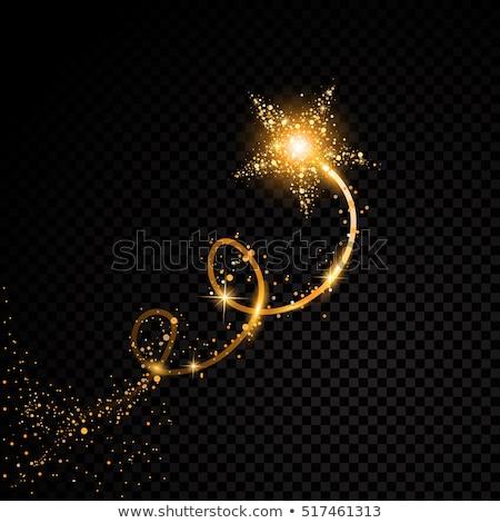 Altın parıltı Yıldız siyah doku ışık Stok fotoğraf © gladiolus
