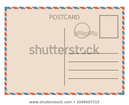üres posta kártya izolált illusztráció boldog Stock fotó © shutswis