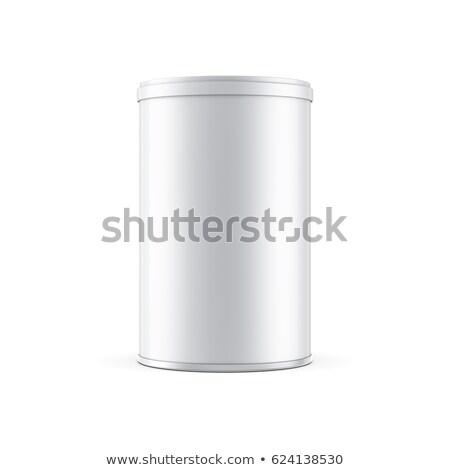 Konzervdoboz konzerv műanyag sapka felfelé csomagolás Stock fotó © pozitivo