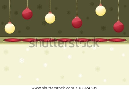 christmas card with baubles eps 8 stock photo © beholdereye