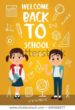 School marketing background. EPS 10 Stock photo © beholdereye