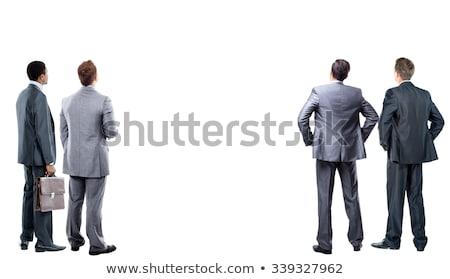 элегантный · человек · Постоянный · назад · серьезный · деловой · человек - Сток-фото © zurijeta