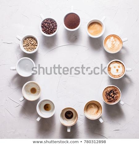 Copo café relógio grãos de café tempo grão Foto stock © CaptureLight