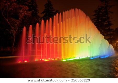 Beautiful fountain at night in Park of the Reserve, Lima, Peru Stock photo © jirivondrous