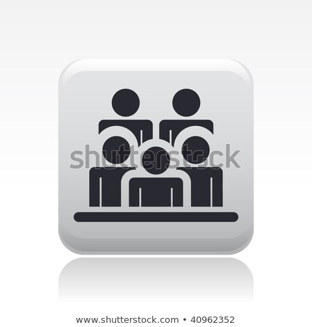 Audiences Icon Grey Button Design Сток-фото © Myvector