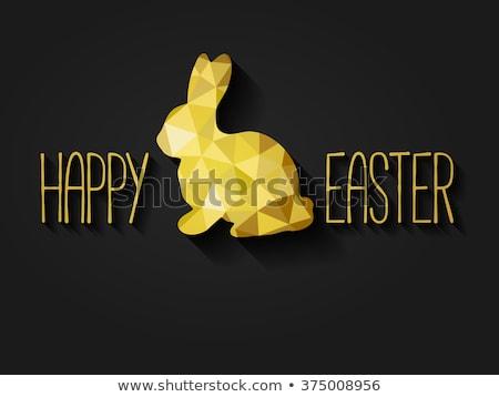 Gyémánt üdvözlőlap kellemes húsvétot kereszt bolt ajándék Stock fotó © carodi