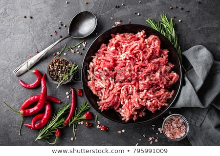 地上 · 肉 · 食品 · 表 · 赤 · 脂肪 - ストックフォト © yelenayemchuk