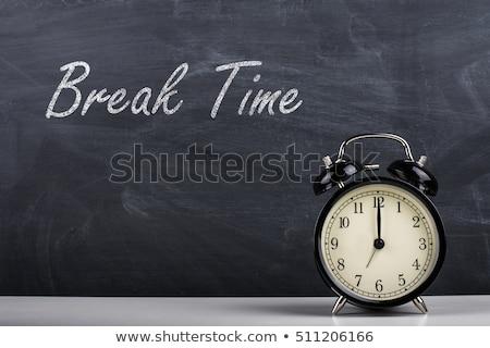 Break Time Handwritten on Chalkboard. Stock photo © tashatuvango