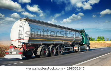 Olajtanker teherautó izometrikus elöl hátsó citromsárga Stock fotó © Genestro