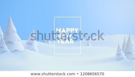 klassz · karácsony · tél · kerttervezés · fa · illusztráció - stock fotó © sarts