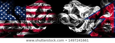Futball lángok zászló Nepál fekete 3d illusztráció Stock fotó © MikhailMishchenko