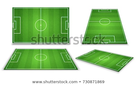 soccer green field for game collection stock photo © studioworkstock