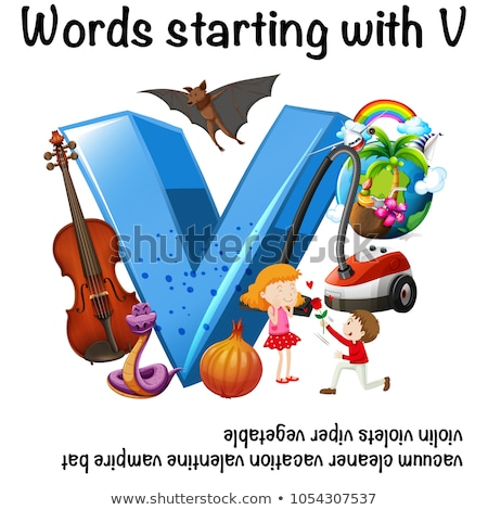 Educational poster design for words starting with V Stock photo © bluering