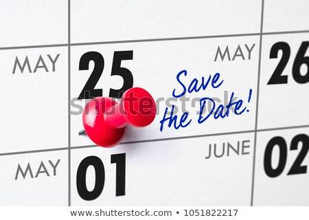 Fal naptár piros tő 25 munka Stock fotó © Zerbor