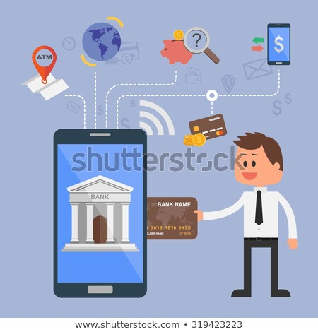 Online Banking on a tablet. Concept illustration Stock photo © alexmillos