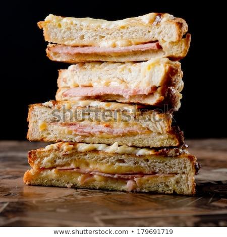 Grillés pain Toast jambon fromages Photo stock © M-studio
