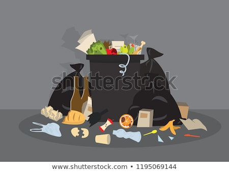 Sale cuisine plein déchets illustration alimentaire Photo stock © bluering