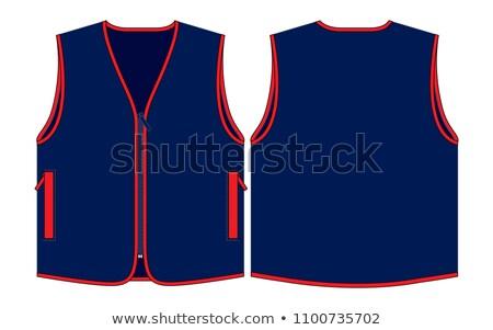 Jaqueta azul colete homens conjunto Foto stock © toyotoyo