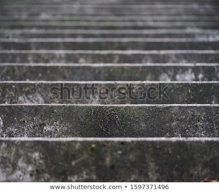 Stair bianco porta aperta foto porta Foto d'archivio © anyunoff
