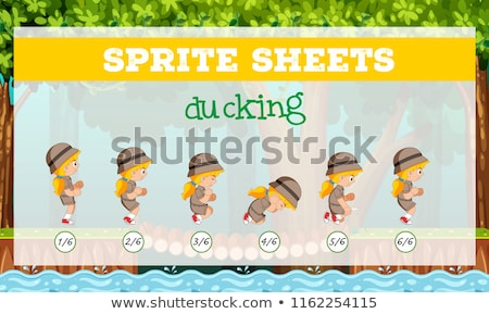 Sprite sheets girl ducking Stock photo © bluering